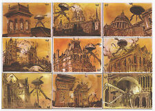 2012 Cult Stuff HG Wells War of the Worlds Robert Hack 9 Preview Card Puzzle Set