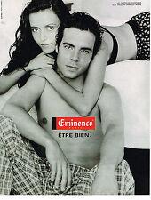 PUBLICITE ADVERTISING 064  1998  EMINENCE  caleçons slip sous vetements
