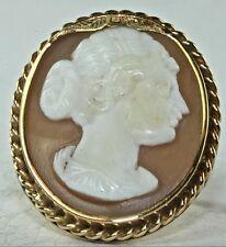 GEORGIAN ANTIQUE 14K GOLD CAMEO RING SIZE 7