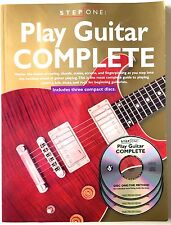 Step One: Play Guitar Complete Includes 3 Instructional Cds