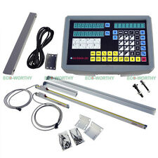 2 Axis Digital Readout with 2 TTL Linear Scales Encoder DRO Kits for CNC EMD