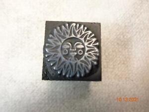 Printing Letterpress Printer Block Sun Print Cut