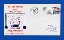 USS Baton Rouge SSN-689 Keel Laying November 18, 1972 - USS America Chapter USCS