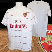 Nuevo Nike Arsenal entrenamiento de fútbol Previo Partido Camisa Emirates Blanco