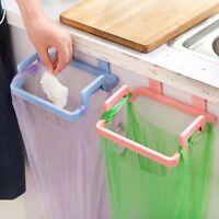 Kitchen Door Back Hanging Cabinet Stand Trash Garbage Bag Support Holder Rack #A