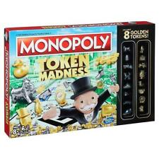 Classic Monopoly Token Madness game with 16 tokens incl 8 golden New Sealed