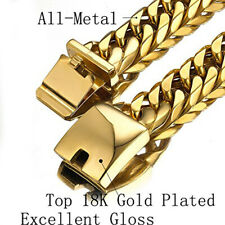 """Heavy 16mm Miami Cuban Link Chain Stainless Steel Curb Necklace for Cool Men 24"""""""