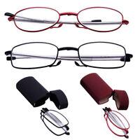 Portátil Gafas De Lectura Anteojos Con Estuche Plegable anteojos cuidado a vista