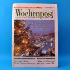 Wochenpost 1/1996   Zeitung   Joseph Brodsky Checkpoint Charlie Ost-Grüne CDU