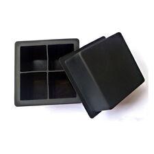 Black Big Giant Jumbo King Size Large Silicone Ice Cube Square Tray Mold Mould
