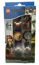 Lego Pirates Of The Caribbean Jack Sparrow Watch With Link Bracelet and Figurine