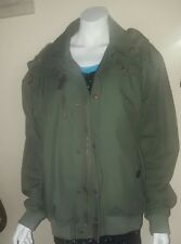Next Men Army Green Hooded Bomber Jacket. RRP £120
