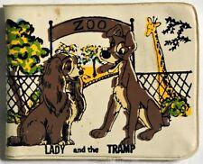 """ESA3051. VINTAGE: Walt Disney's LADY AND THE TRAMP """"Zoo"""" Vinyl Wallet (1950's)"""