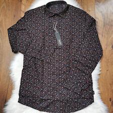 Esprit Floral Men's Shirt Slim Size Small RRP £39