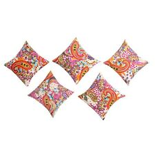 Paisley Designer Cotton Pillow Case Sofa Car Bed Decor 5 PCs Cushion Cover Set