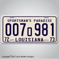 Louisiana  1975 JAWS Movie Shark Autopsy Prop Replica Aluminum License Plate Tag