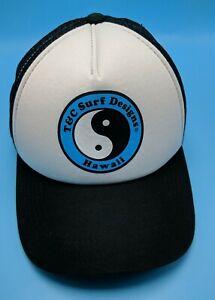 T&C SURF DESIGNS hat HAWAII black white child youth size adjustable snapback cap