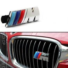 Auto M Power Grill Frontgrill Emblem Schriftzug Badge Plakette für Blau Chrom