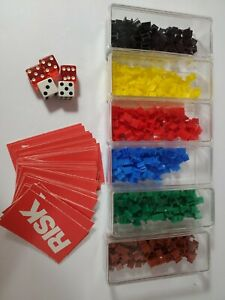 Risk 1980 Game Pieces 6 Army Sets 44 Territory Cards Dice
