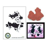 Spring Animal Rubber Stamps Gardening Bunny Impression Obsession Cling Stamps