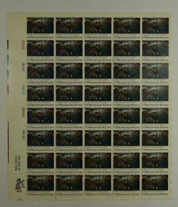 US SCOTT 1563 PANE OF 40 US BICENTENNIAL STAMPS 10 CENT FACE MNH