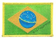 BRASILIEN AUFNÄHER Flaggen Fahnen Patch Aufbügler 8x6cm
