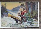 "Vintage Philip R. Goodwin Print ""Cruisers making a Portage"" 9"" x 13"" Canoe Hunt"