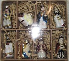Pottery Barn MINI NATIVITY ORNAMENTS ~ Set of 8 Beautiful Ornaments ~ Christmas
