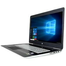 "HP 17t Laptop 17 17.3"" i7-7700HQ Quad 12GB 128GB + 1TB 2GB 1050 Backlit Key AC"