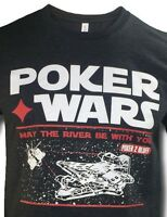 "Poker Wars MEN'S T-SHIRT ""MAY THE RIVER BE WITH YOU"" Color:Charcoal Size: XLarge"