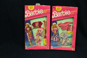 1989 Barbie Western Fun Fashion x 2