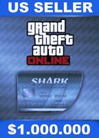 PS4-(GTA V) GRAND THEFT AUTO ONLINE SHARK CASH MEGA SPECIAL $1,000,000