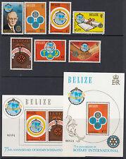 Belize: 1981 75th Anniversario del Rotary International Set + MS sg606-12+ms613 Nuovo di zecca