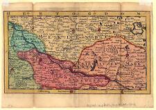 Uelzen-Dannenberg-Putlitz-Parchim-Perleberg - Kupfer-Karte - Jan de Lat 1742