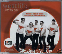 WESTLIFE - UPTOWN GIRL 2001 EU ENHANCED CD SINGLE