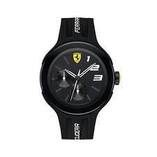 Brand New Scuderia Ferrari FXX Black StainlessSteel Silicone Strap Watch 0830225
