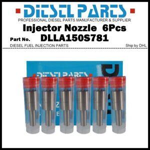 6Pcs Injector Nozzle Tips 0433271394 DLLA150S781 for Mercedes Benz A0010170112