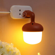 LED Sensor Night Light Acorn Shaped Lamp Smart Sound Control Kids Room Lighting