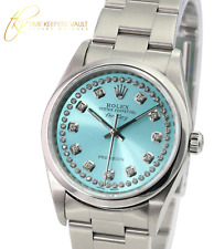 Rolex Oyster Perpetual Airking 14000 Ice Blue Diamond Dial Oyster Band