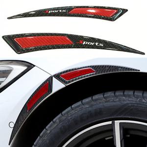 2x Car Splash Guard Fender Flares Wheel Eyebrow Arch Lip Plastic Protector Strip