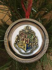"Harry Potter Hogwarts crest Round Silver 3"" Ornament 1W"