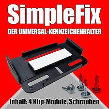 BMW Kennzeichenhalter Nummernschildhalter Rahmenlos Set SIMPLE FIX KFZ