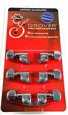 Grover Mini RotoMatics Machine Heads Tuners 205C Chrome 3+3 Lifetime Guarantee