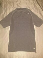 Nike Pro Dri Fit Compression Youth/Men Short Sleeve Gym Shirt Gray Large L