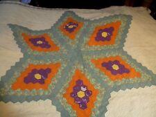 """Vintage Grandmothers Flower Garden STAR quilt~82"""" x 70"""""""
