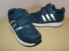 infant boys navy Adidas hook&loop shoes trainers uk 5 eur 21