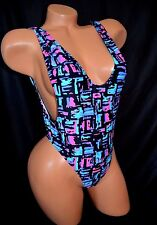 Exotic Dancer Stripper Sexy UV Glow One Piece Thong Back Romper Dancewear