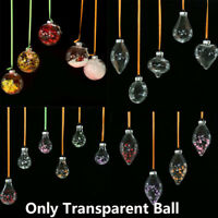 Plastic Clear Transparent Ball Open Bauble Ornaments Christmas Decor Pendant A