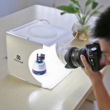 Double LED Fotografie Fotostudio Softbox Beleuchtung Set Backdrop Cube Mini box.
