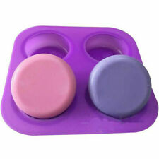 4 Round Basic Plain Round Corner Soap Lotion Bar Mold Making Silicone  FA3